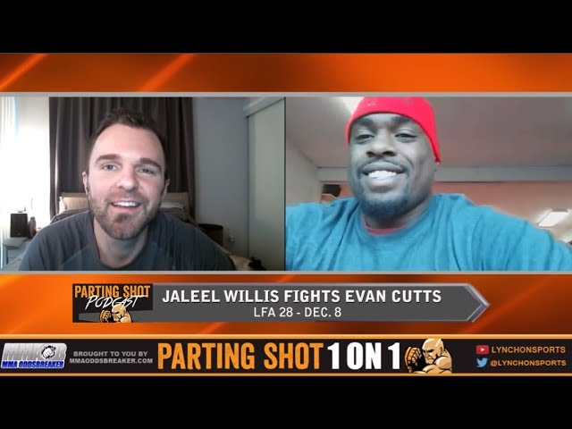 Undefeated Jaleel Willis talks Evan Cutts matchup **interview Prior to Cutts Injury***