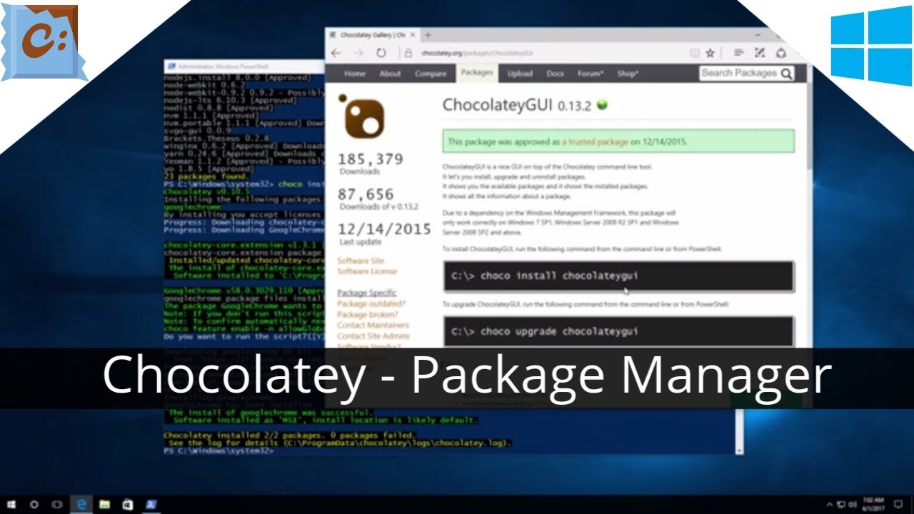 Chocolatey - Install apps from cmd prompt with Powershell