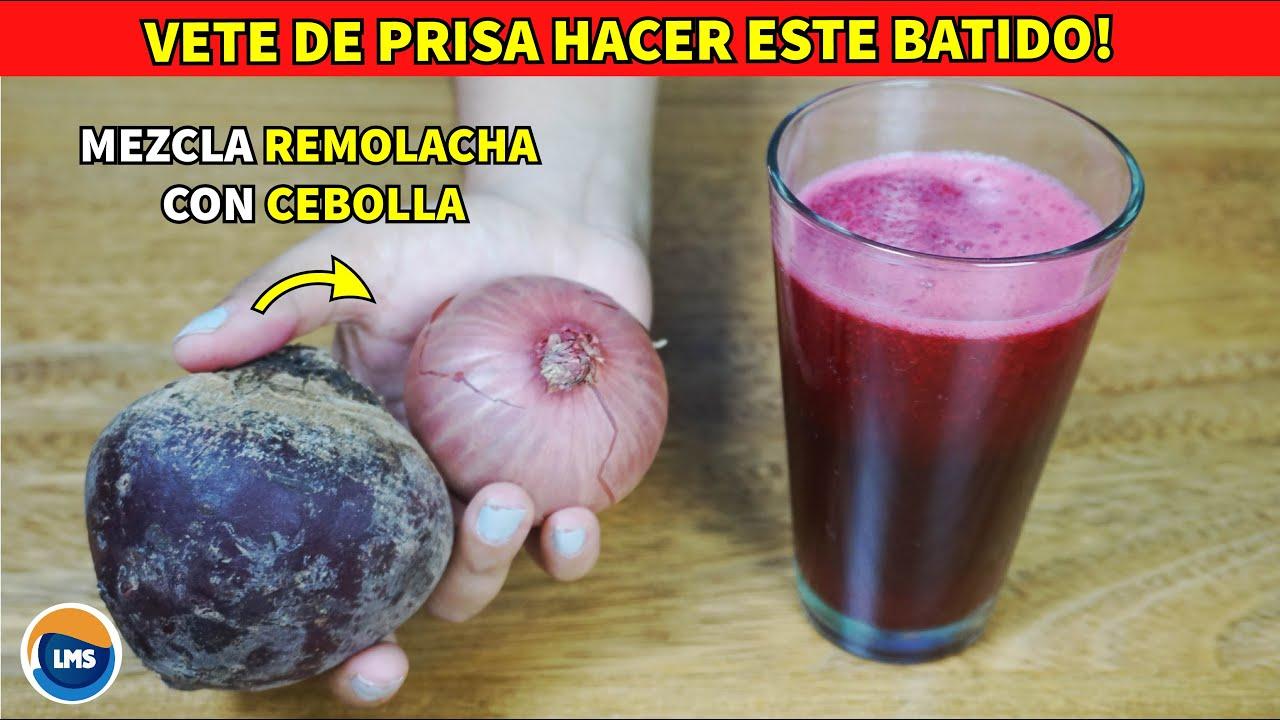 👉 Bebe este Batido 🍷 de REMOLACHA con CEBOLLA por 1 mes - Los Resultados te Dejaran Boca Abierta 😯