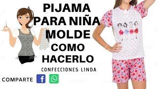 Pijama niña manga larga