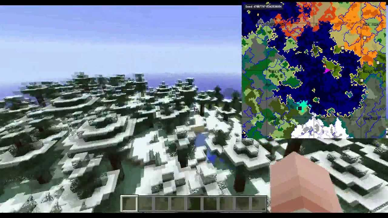 sZPeddy's Minecraft Seed Finder 001 - Spotlight on awesome seeds