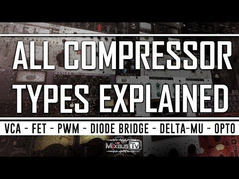 all-types-of-compressors-explained:-fet,-pwm,-vca,-opto,-vari-mu,-diode-bridge