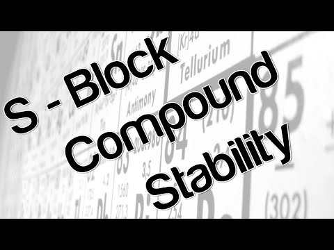 S - Block Compound Stability