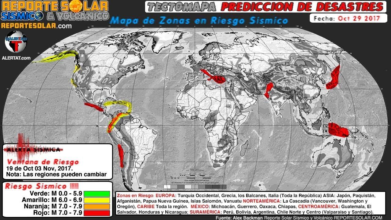 Alerta Sismica Roja Reporte Solar Sismico Y