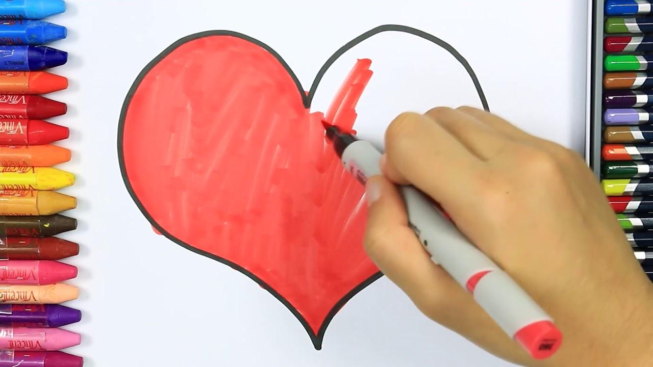 Kalp Nasıl çizilir Boya Boya çizelim Boyayalım çocuklar Için