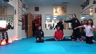 Kung Fu Kids - Jumping Middle Splits Challenge
