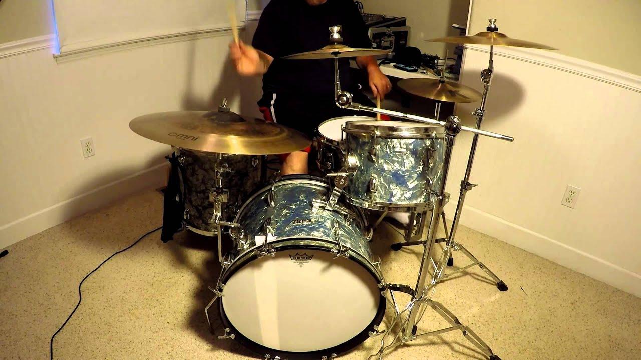 Vintage Pearl Drums ~ 1968 ~ Gopro In Room Audio