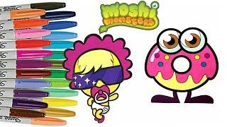 Moshi Monsters Coloring Book Lady Goo Goo Oddie  | Sprinkled Donuts