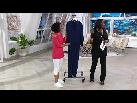 Attitudes by Renee Como Jersey Cargo Jumpsuit on QVC