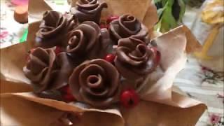 как сделать розы из шоколада в домашних условиях