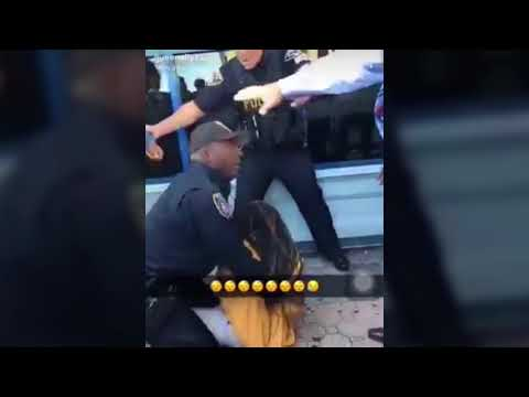 Orange cop caught on camera