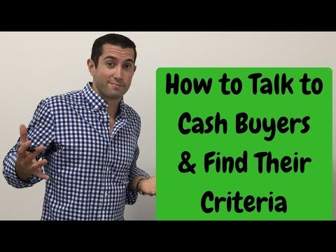 How to TALK to CASH BUYERS & FIND their CRITERIA | Wholesaling & Flipping Houses