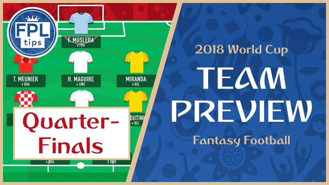 QUARTER-FINALS: Play the 'Maximum Captain' Chip? | WORLD CUP 2018 Fantasy Football Preview
