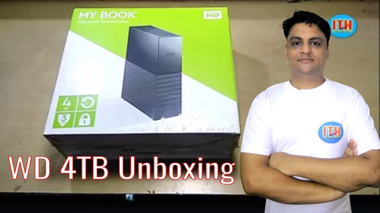 WD External Hard Disk Unboxing 4 TB || My Book Hard Disk Unboxing || Indian  Technical Help