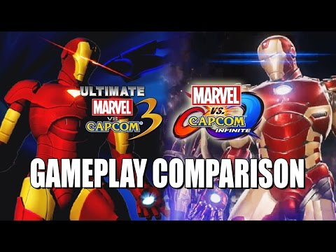FULL GAMEPLAY COMPARISON & BREAKDOWN: Marvel Vs Capcom Infinite X UMVC3
