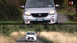 New smart forfour vs toyota aygo 2015 - test drive