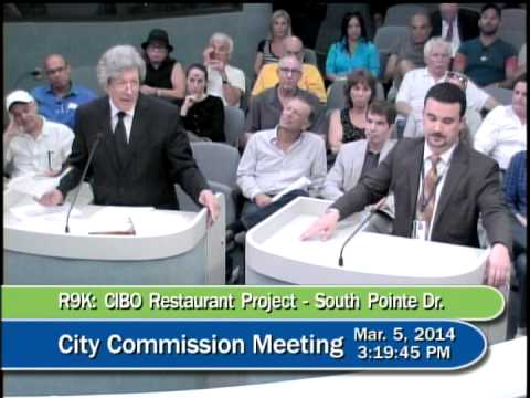 Miami Beach Commission Hearing on CIBO Restaurant (1 of 2)