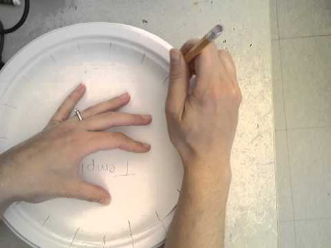 How to Trace a Paper Plate Loom Template & How to Trace a Paper Plate Loom Template - YouTube