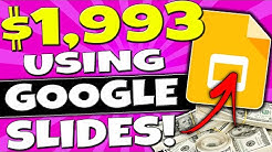 Earn $1993.59 USING GOOGLE SLIDES Just Copy and Paste in 2 Mins! (Make Money Online)