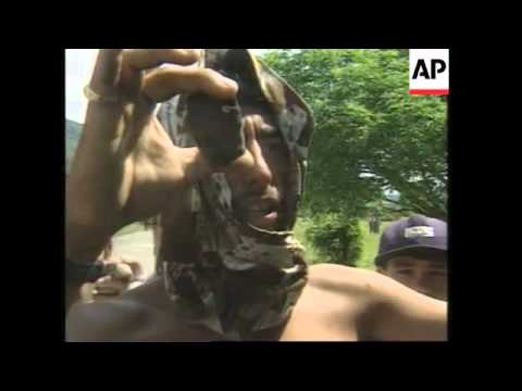 COLOMBIA: MORELIA: COCA LEAF GROWERS CLASH WITH TROOPS
