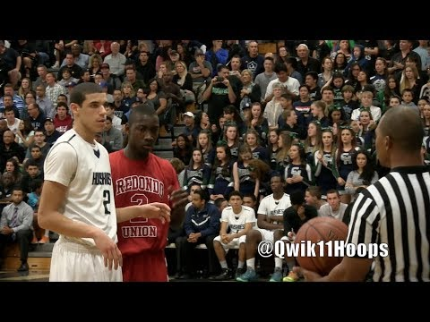 Lonzo Ball and LiAngelo Ball Toughest Playoff Game Open Division Semifinal vs Redondo Union
