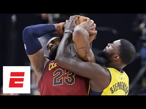 LeBron James vs. Lance Stephenson continues to get chippy throughout Game 4 | ESPN