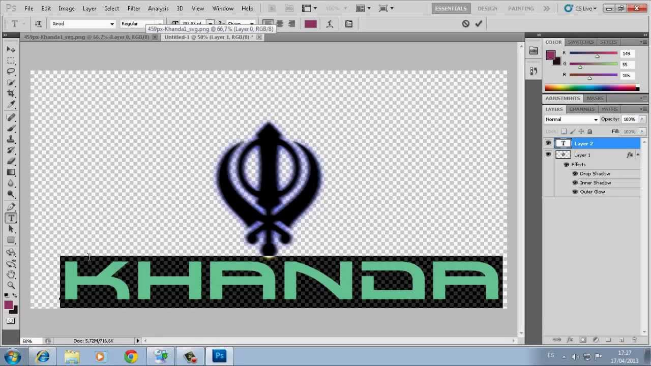 Photoshop In Punjabi Simplehow To Make Khandahow To Make Text
