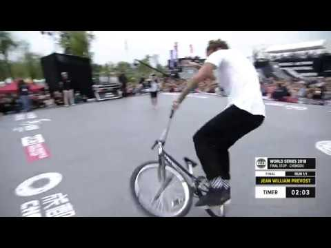 Jean William Prévost 1st place - UCI BMX Flatland World Cup Final | FISE World Series Chengdu 2018
