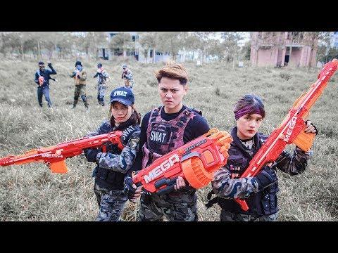 Nerf Guns War : Couple S.W.A.T Of TTNerf Team Special Fight Attack Squad Boss XX Criminal Dangerous