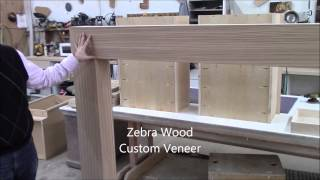 Advantage Woodshop - Custom Zebra Wood Contemporary Fireplace Surround