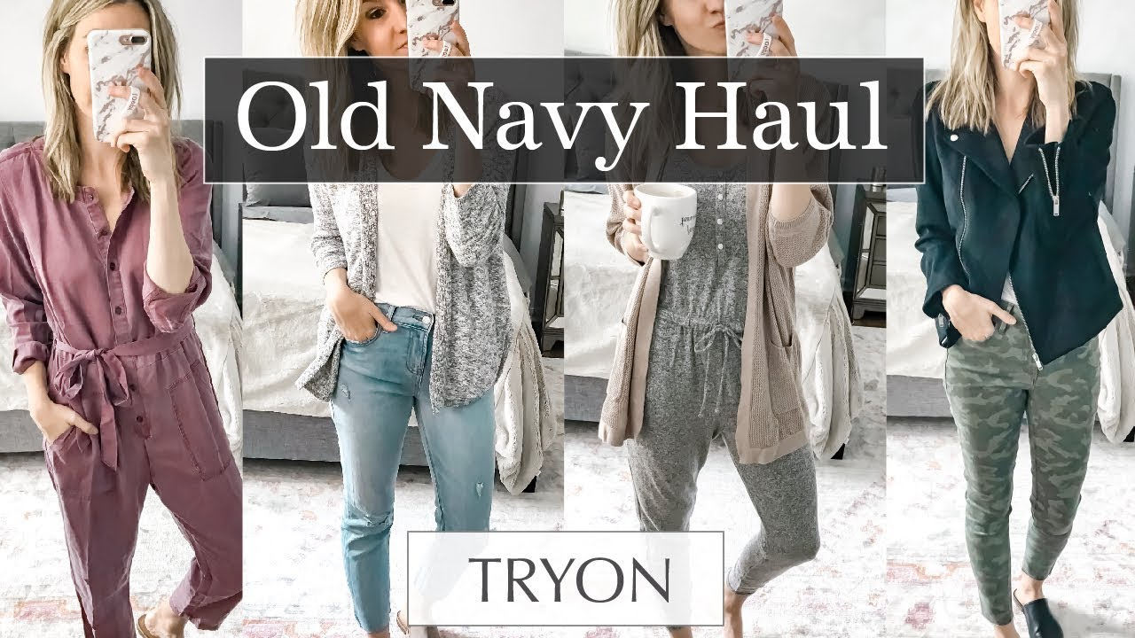 e75c9a7e19f Old Navy Try On Haul Fall 2018 - YouTube