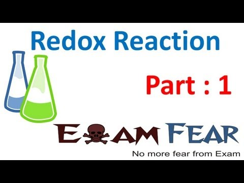Chemistry Redox Reaction part 1 (Introduction) CBSE class 11 XI