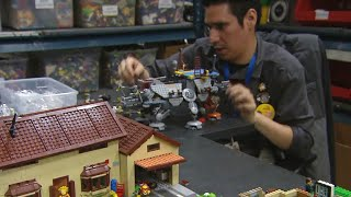 Creating art with Legos is key to young man