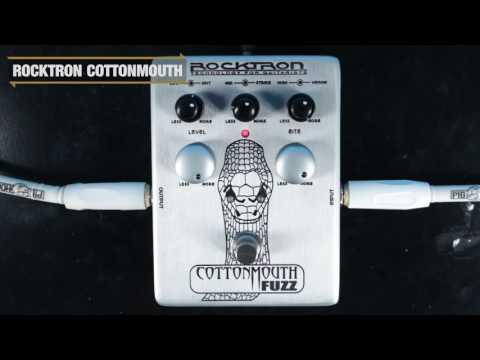 Rocktron Cottonmouth Fuzz Pedal Demo   GEAR GODS