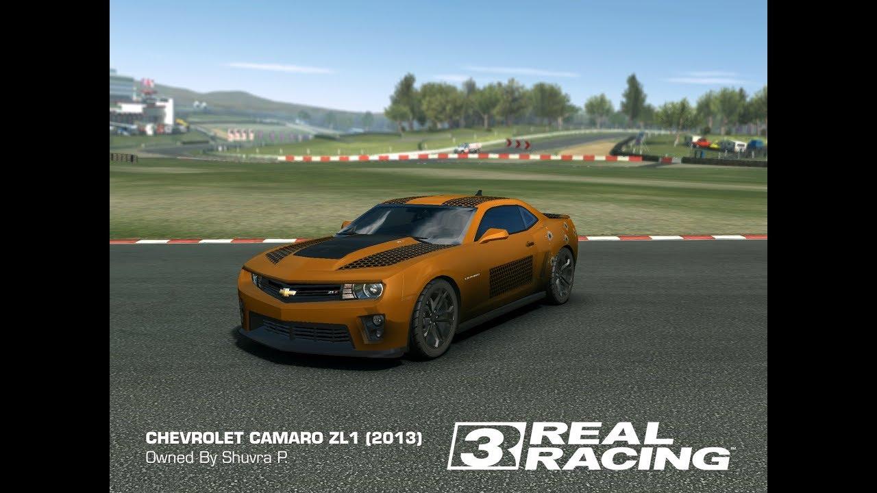 Real Racing 3 Chevrolet Camaro Zl1 Vinyl Customization Youtube