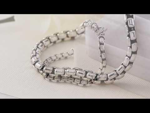 JAI Sterling Silver Round Box Chain Bracelet on QVC