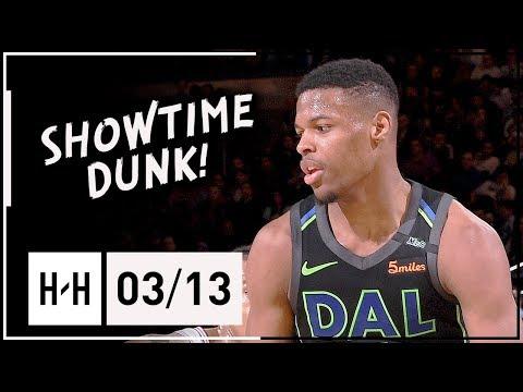 Dennis Smith Jr. Full Highlights vs Knicks (2018.03.13) - 17 Pts, CRAZY DUNK at MSG!