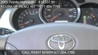 2005 Toyota Highlander V6  used cars Reno, near Carson City, Sparks, Tahoe, Sacramento, Northern Nv