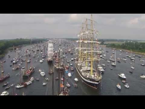 Sail Amsterdam 2015: 4 Mast Barque Kruzenshtern on its way to AmshdiBamshdi