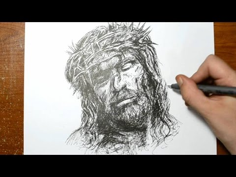 Drawing the Son of God - Quick Sketch of Jesus