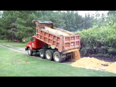 Spreading Sand With The Dump Truck Youtube