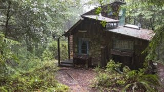 Old-Fashioned Little Cabin in the Woods