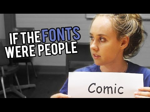 If The Fonts Were People