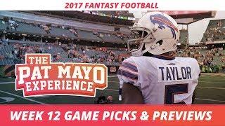2017 Fantasy Football - Week 12 NFL Picks, Game Previews + Cust Corner Mini