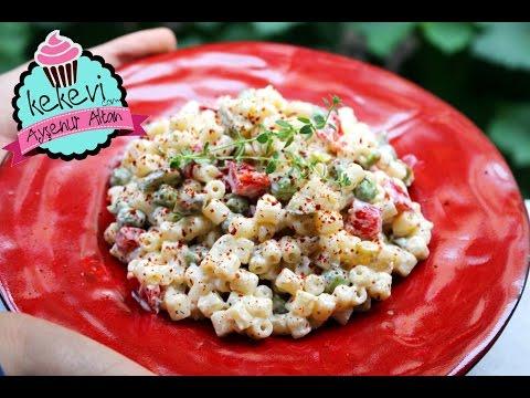 makarna salatası nasıl yapılır?  ayşenur altan yemek tarifleri