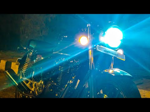 Honda Highness CB 350 Headlight Review In City And Highway
