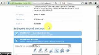 E-autopay: Продлеваем акк. по Webmoney /E-num/ через Robokassa