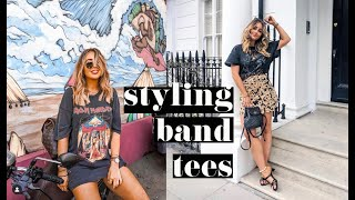 HOW TO STYLE BAND TEES | sophie milner