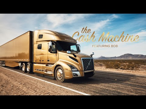 Trucker becomes a rich man by driving Volvo Trucks in a flashy campaign