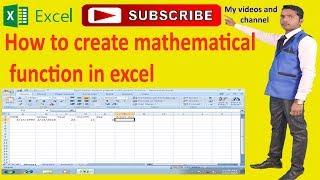Wie erstellen Sie mathematische Funktion in excel-H. K online-Bildung ITonlineEducation